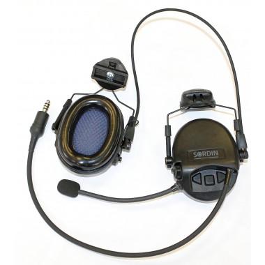 Тактическая гарнитура MSA-SORDIN MIL CC SLIM SINGLE COM, ARC (крепление на каску)